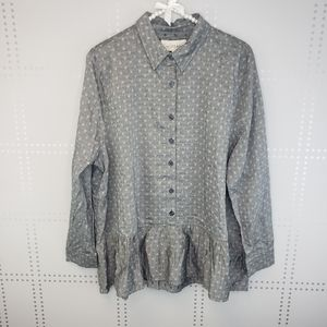 NWT The Great Button front top